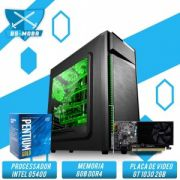 Bs Gamer Intel G5400 3.70GHZ 4MB, 8GB DDR4, HD 1TB, 500W, GT 1030 GDDR5 2GB