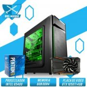 Bs Gamer Intel G5400 3.70GHZ 4MB, 8GB DDR4, HD 1TB, 400W, GTX 1050TI 4GB