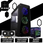 Bs Gamer Intel I5 8400 2.8GHZ 9MB, 8GB DDR4, HD 1TB, 500W, RTX 2060 6 Gb