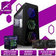 Bs Gamer Intel I5 8400 2.8GHZ 9MB, 8GB DDR4, HD 1TB, 500W, RX 580 4GB