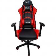 Cadeira Gamer MX5 Giratória, Encosto Reclinável de 180°  Preto/Vermelho MGCH-MX5/RD