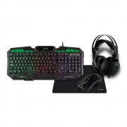 Combo Gamer 4 em 1 X-Zone GTC-02 LED Headset Teclado Mouse e MousePad