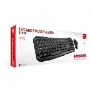 Combo Teclado e Mouse C3 Tech Sem fio Teclas Multimídia USB Preto - K-W40BK