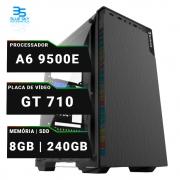 Computador AMD A6 9500E, Ssd 240GB, 8GB 2X4 DDR4, GT 710, 230W