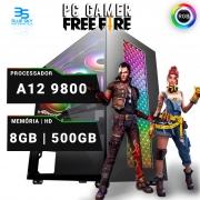 Computador Gamer A12 9800, 8GB DDR4, HD 500GB, 400W