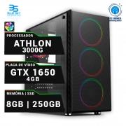 Computador Gamer AMD Athlon 3000G, SSD 250GB, 8GB DDR4, 400W, GTX 1650 4GB