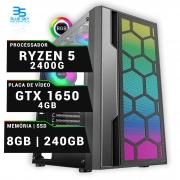 Computador Gamer Amd Ryzen 5 2400G, Ssd 240GB, 8GB ddr4, 400W, Gtx 1650 4GB