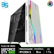 Computador Gamer AMD Ryzen 5 2600, HD 1TB, 8GB DDR4, 500W, GTX 1660 6GB Super
