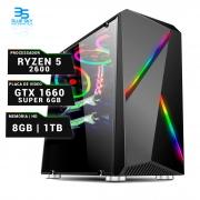 Computador Gamer AMD Ryzen 5 2600, HD 1TB, 8GB DDR4, 500W, GTX 1660 6GB Super