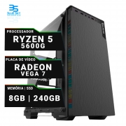 Computador Gamer AMD Ryzen 5 5600g, SSD 240GB, 8GB DDR4, 400W