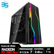 Computador Gamer AMD Ryzen 7 2700, HD 1TB, 16GB DDR4, 500W, RX 580 8GB