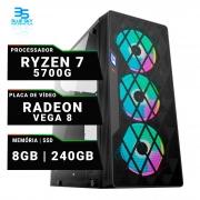Computador Gamer AMD Ryzen 7 5700g, SSD 240GB, 8GB DDR4, 420W