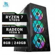Computador Gamer AMD Ryzen 7 5700g, SSD 240GB, 8GB DDR4, 400W