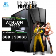 Computador Gamer Athlon 3000G, 8GB DDR4, HD 500GB, 400W