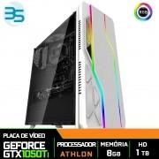 Computador Gamer Athlon 3000G, Nvidia GTX 1050Ti 4GB, 8GB DDR4, HD 1TB, 400W