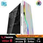 Computador Gamer, Ryzen 3 3200G, 8GB DDR4, HD 1TB, 500W, BG-009