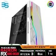 Computador Gamer Ryzen 3 3200G, Radeon RX 580 8GB, 8GB DDR4, HD 1TB, 500W