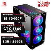 Computador Gamer XPG Intel I5 10400F, 8GB DDR4, SSD 256GB, 550W, GTX 1660 6GB