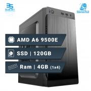 Computador Office AMD A6 9500E, Ssd 120GB, 4GB DDR3, 200W