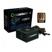 Fonte GM500 Gamemax PFC Ativo 80 Plus Bronze 500W