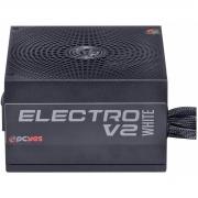 Fonte PCYES 600W Electro V2 80 Plus PFC Ativo White