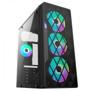 Gabinete Gamer BlueCase BG-037 s/Fans Vidro Mid Tower USB 3.0