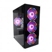 Gabinete Gamer Hayon S/ Fonte C/ 4 Fans RGB Vidro GB1701