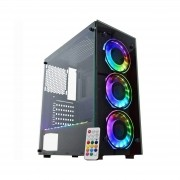 Gabinete Gamer K-Mex Atlantis IV RGB C/ 3 Fans Vidro CG04N9