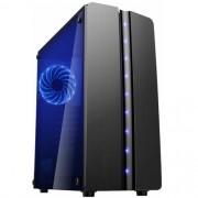 Gabinete Gamer K-Mex Blue Matrix CG06R8 S/ Fonte