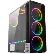 Gabinete Gamer K-Mex Infinity 4 Mid Tower Preto RGB C/ Controle CG-04G8