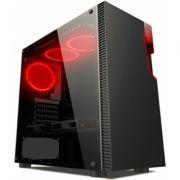 Gabinete Gamer Liketec Titan 192-B Vidro Temperado Red MID TOWER S/FONTE