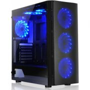 GABINETE GAMER LIKETEC W1 ARTIC VIDRO TEMPERADO LED AZUL MID TOWER S/FONTE