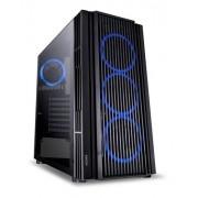 Gabinete Gamer PcYes ATMOS Led Azul Vidro 7ATPTAZ4FCV