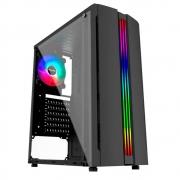 Gabinete Gamer Pixxo GF5522 ATX USB 3.0 RGB Preto