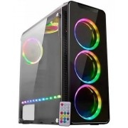 Gabinete K-Mex Gamer CG05G8 Infinity V RGB Preto USB 3.0