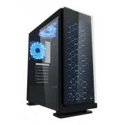 Gabinete K-Mex Gamer LED Azul 3 Coolers CG7EV3R Galaxy Preto