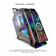 Gabinete Pixxo GS Lumine Preto RGB LKL06P