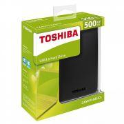 Hd Externo Portátil Toshiba Canvio Basics 500gb - Hdtb405xk3aa