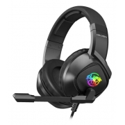 Headset Gamer Draxen Preto com LED RGB - DN102