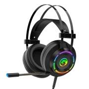 Headset Gamer Marvo Scorpion 7.1 Surround USB Rainbow Black, HG9062