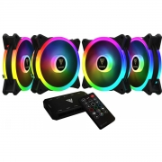 Kit 4 Cooler FAN Gamdias Aeolus, 120mm, RGB - M2-1204R