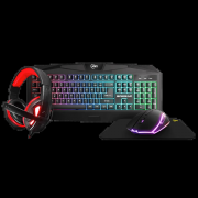 Kit Combo Gamer KWG Aries M1 4 em 1, Teclado, Mouse Headset e Mousepad