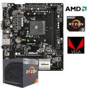 Kit Gamer Upgrade A320M HD + Processador Ryzen 3 2200G