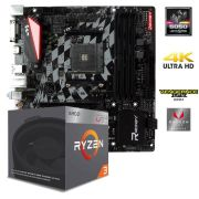 Kit Gamer Upgrade B350GT3 AM4 B350 RGB + Processador Ryzen 3 2200G