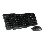Kit Mouse e Teclado C3-Tech USB ABNT2 Sem Fio K-W10BK