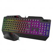Kit Teclado e Mouse Gamer Havit Gamenote HV-KB852CM RGB Preto