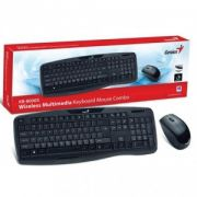 Kit Teclado e Mouse Multimídia Genius KB-8000X Wireless - Preto