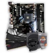 Kit Upgrade, AMD Ryzen 3 2200G, Placa Mãe APM-A320G, Memória DDR4 8GB 2666MHz