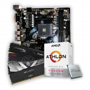 Kit Upgrade, Athlon 3000G, Placa Mãe A320G, Memória DDR4 8GB 2666MHz