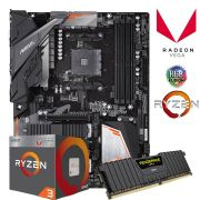 Kit Upgrade Gamer B450 Aorus Elite + Ryzen 3 2200G + 8GB DDR4